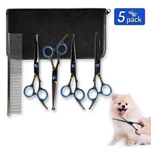 youthink dog grooming scissors set 5 pieces stainless steel grooming trimmer kit with cutting scissors thinning shear curved scissors grooming comb for cat dog and more pets Dog Grooming Scissors Set – YOUTHINK 5 Pieces Stainless Steel Grooming Trimmer Kit with Cutting Scissors Thinning Shear… YOUTHINK Dog Grooming Scissors Set 5 Pieces Stainless Steel Grooming Trimmer Kit with Cutting Scissors Thinning Shear Curved Scissors Grooming Comb for Cat Dog and More Pets 0 300x300