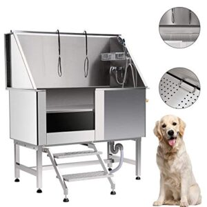 z zelus pet dog grooming bath tub 127cm 50 inch professional stainless dog grooming tub wash shower sink with faucet walk-in ramp and adjustable floor grate Z ZELUS Pet Dog Grooming Bath Tub 127CM 50 Inch Professional Stainless Dog Grooming Tub Wash Shower Sink with Faucet… Z ZELUS Pet Dog Grooming Bath Tub 127CM 50 Inch Professional Stainless Dog Grooming Tub Wash Shower Sink with Faucet Walk in Ramp and Adjustable Floor Grate 0 300x300